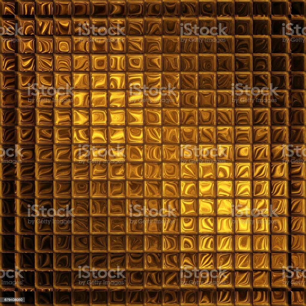 Golden mosaic, square luxury background royalty-free stock photo