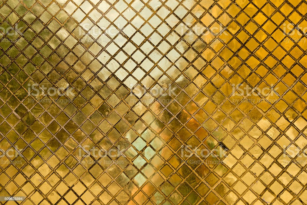 Golden Mosaic Tile stock photo
