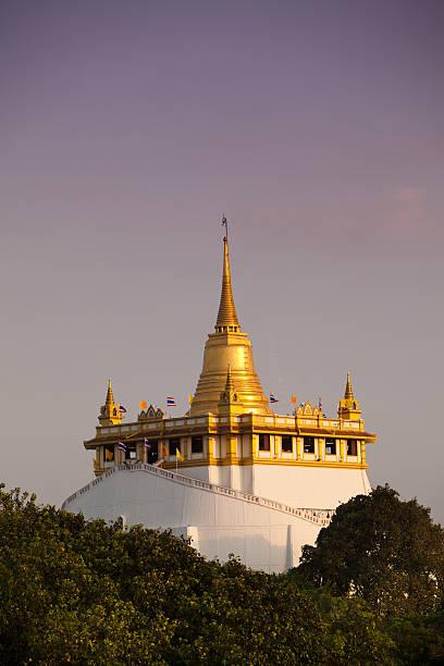 Golden Mount Temple in Bangkok, Thailand stock photo