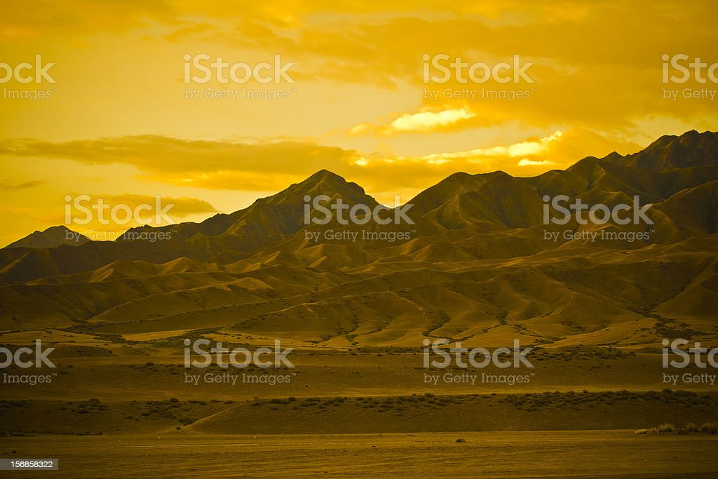 Golden Mountain stock photo