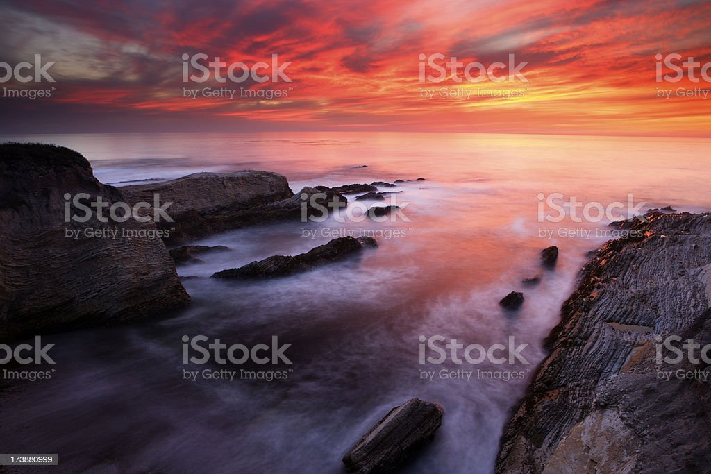 Montana de Oro Sunset stock photo
