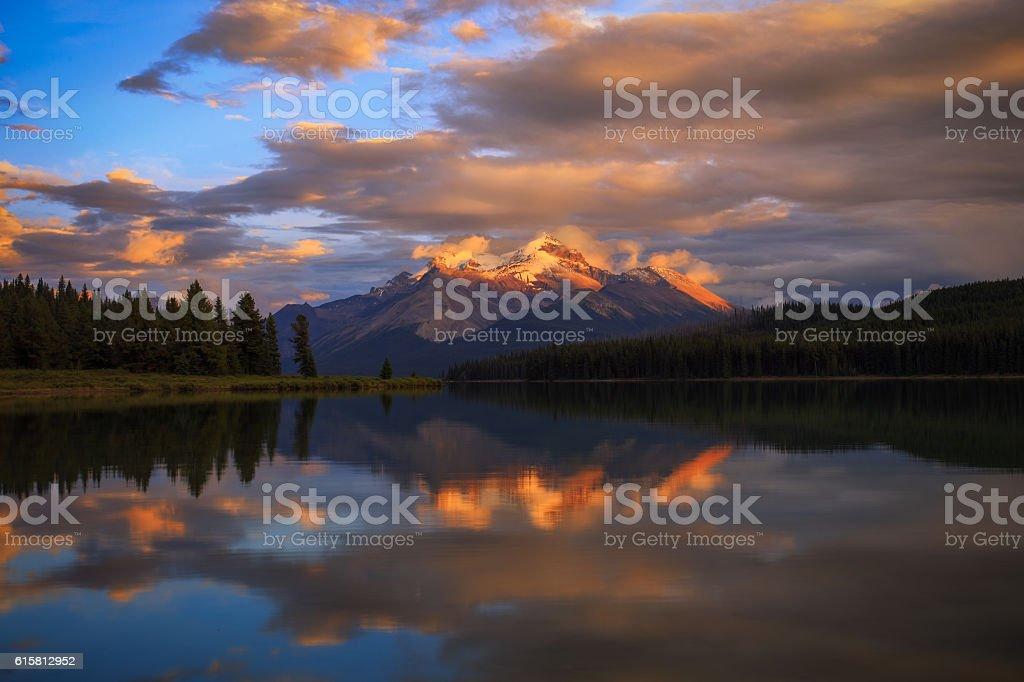 Golden Mountains stock photo