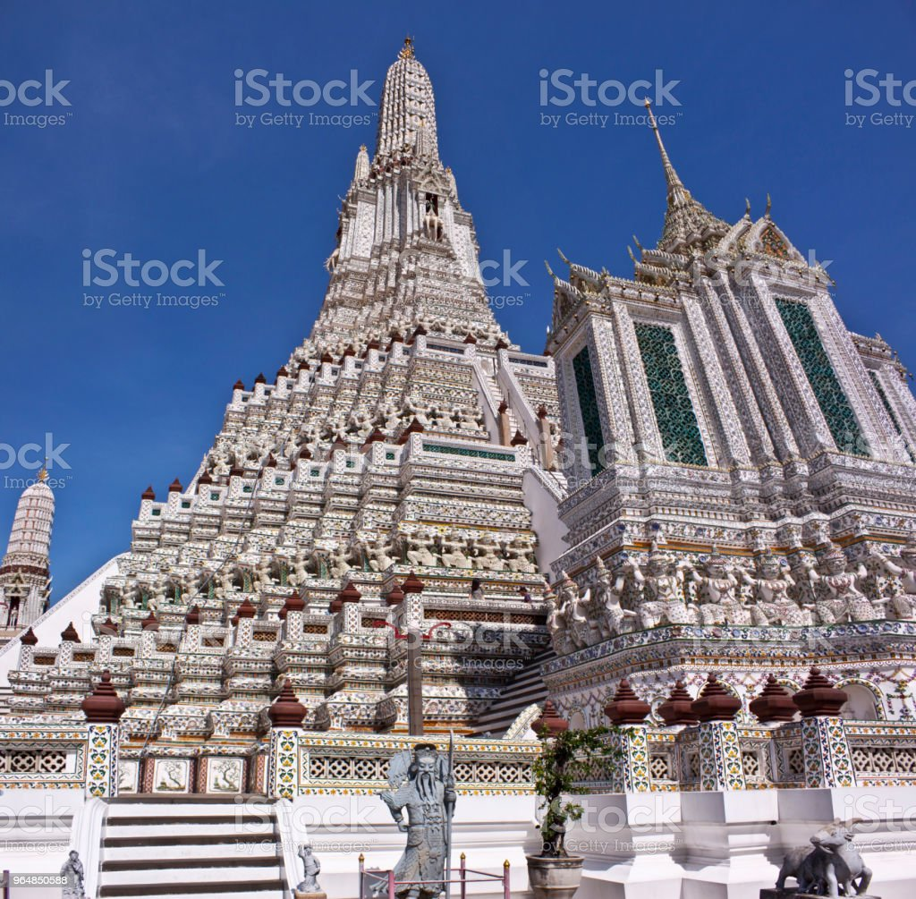 Golden Mountein in Bangkok royalty-free stock photo