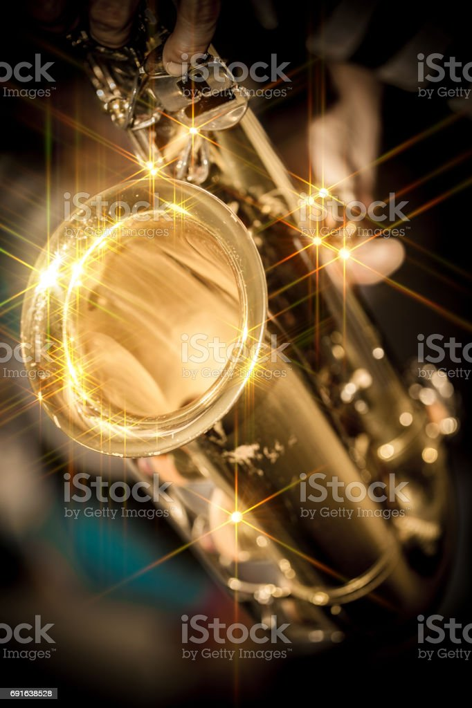 golden music stock photo