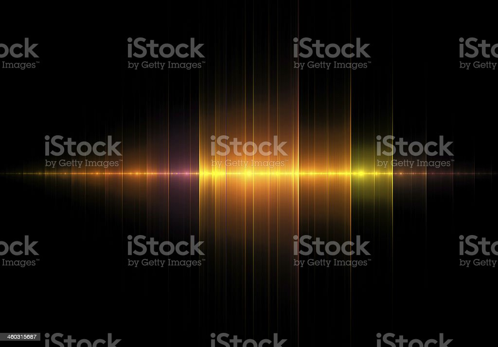 Golden Music Wave on Black stock photo