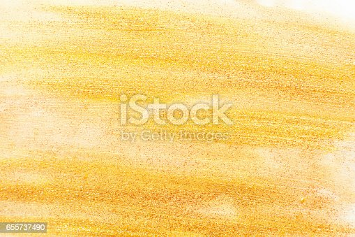 istock Golden nail polish texture free space 655737490