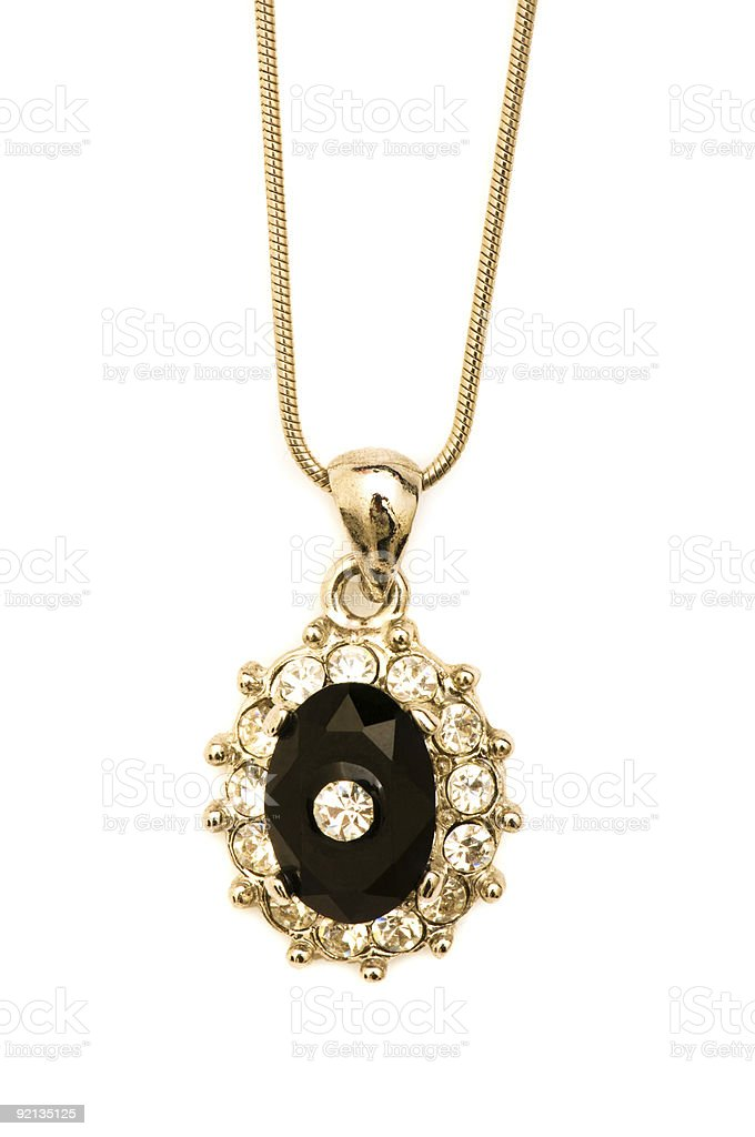 Golden necklace isolated on the white background royalty-free stock photo
