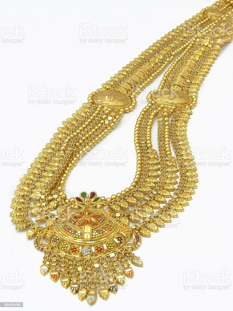 Goldene Halskette Lizenzfreies stock-foto