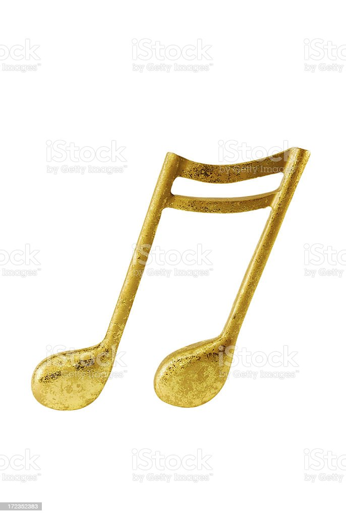 Golden note stock photo