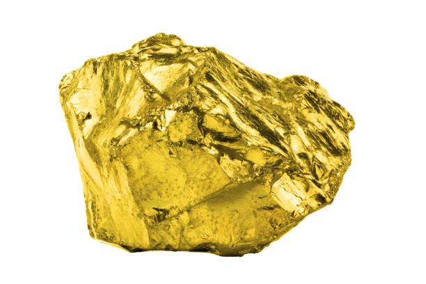 golden idee, isoliert auf weißem hintergrund - aurum stock-fotos und bilder