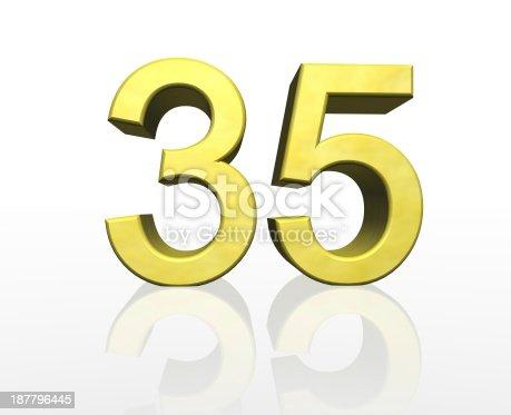 istock golden number 35 187796445