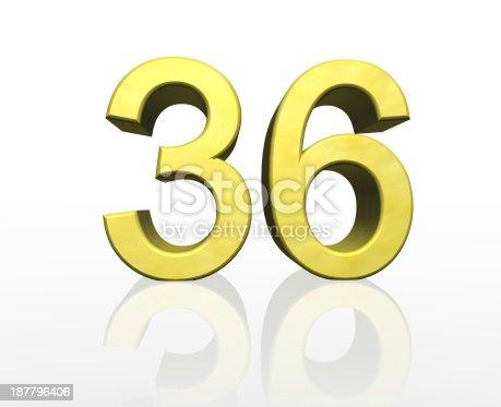 istock golden number 36 187796406