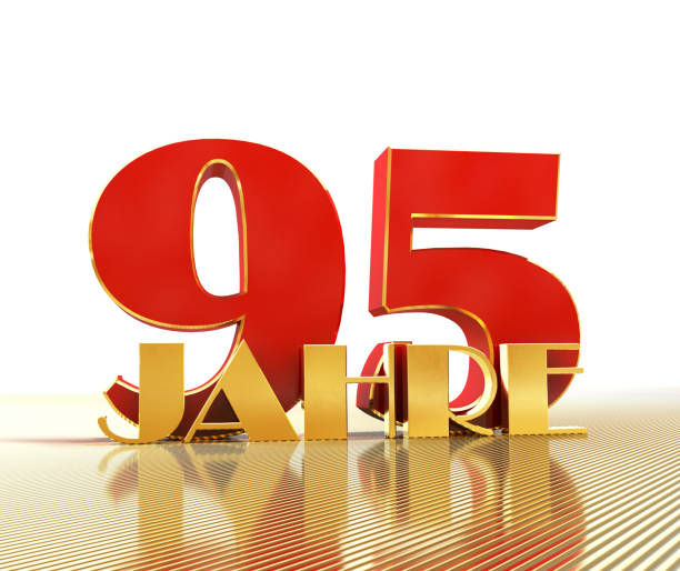 Golden number ninety five (number 95) and the word