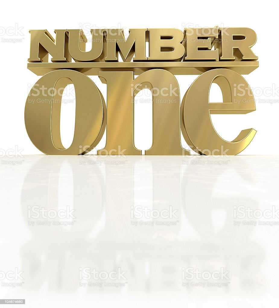 Golden number one royalty-free stock photo