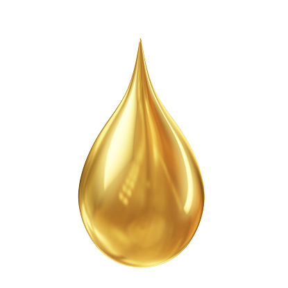istock golden oil droplet isolated on white background 467817198
