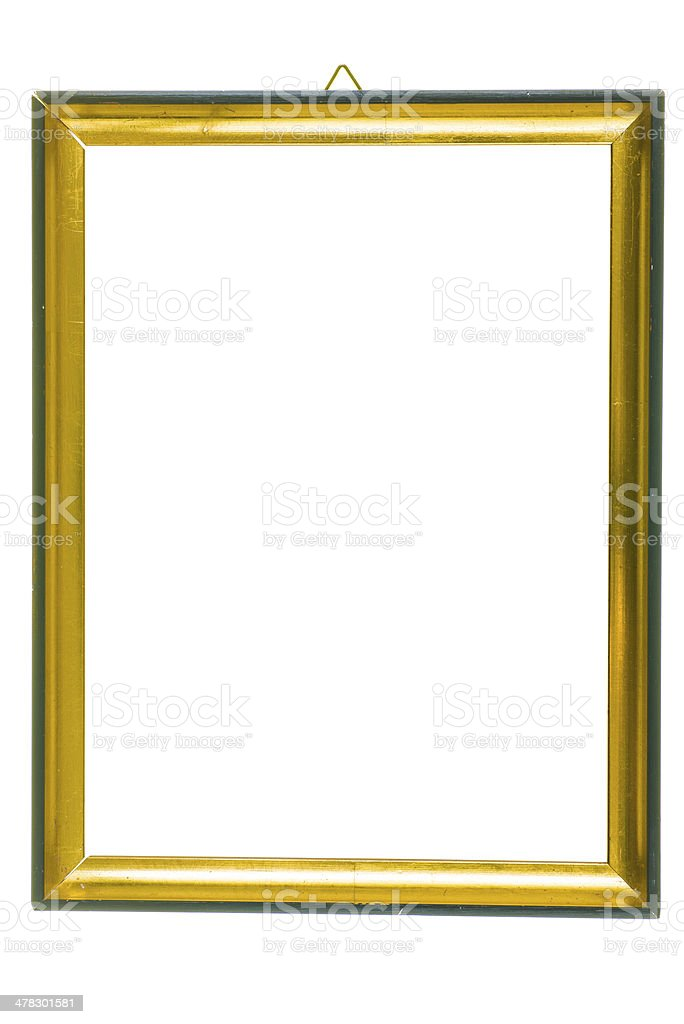golden old style vintage picture frame royalty-free stock photo
