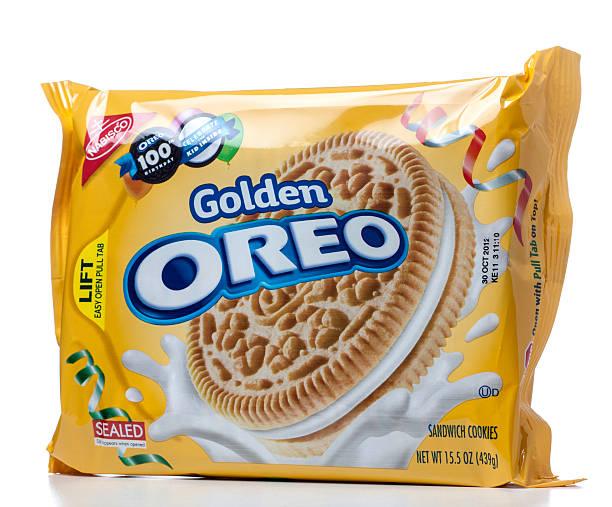 Golden Sanduíche de biscoito Oreo pacote - foto de acervo