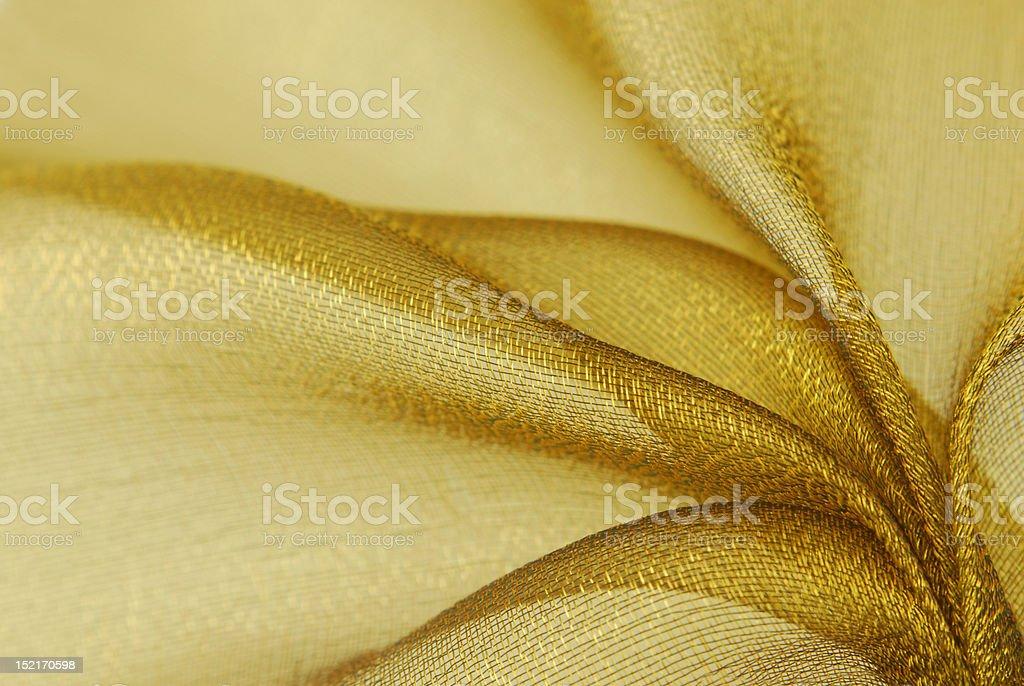 golden organza fabric texture royalty-free stock photo