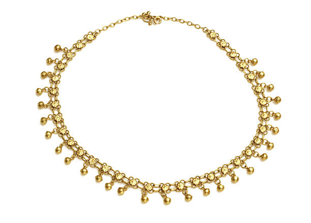 Golden Oriental Necklace stock photo