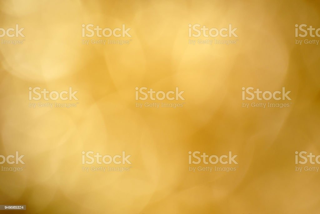 Golden Out Of Focus Background stock photo