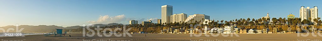 Golden Pacific shore royalty-free stock photo