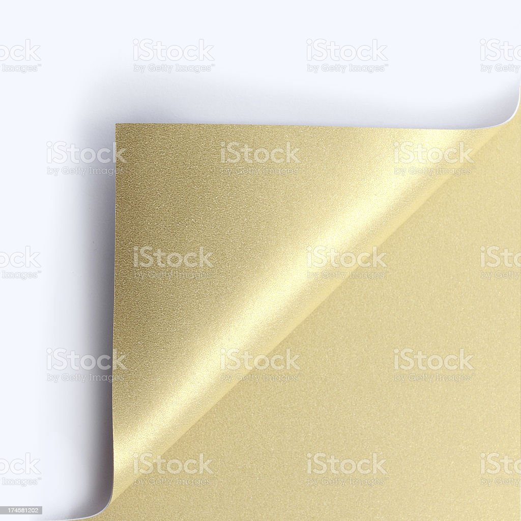 golden page corner curl royalty-free stock photo