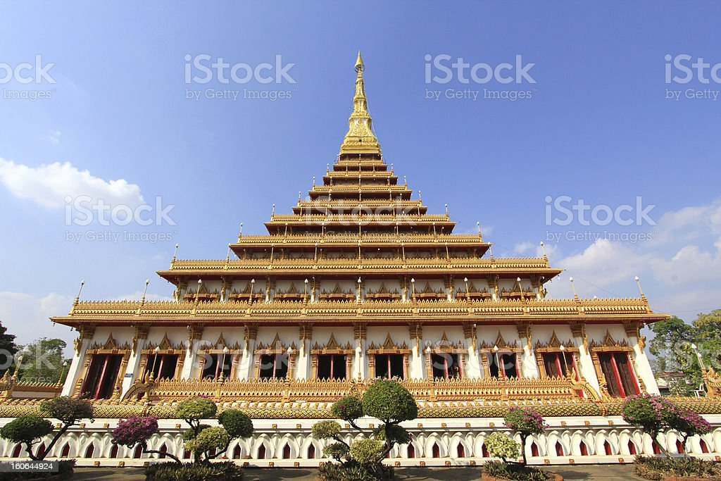 golden pagoda at the Thai temple,Thailand royalty-free stock photo