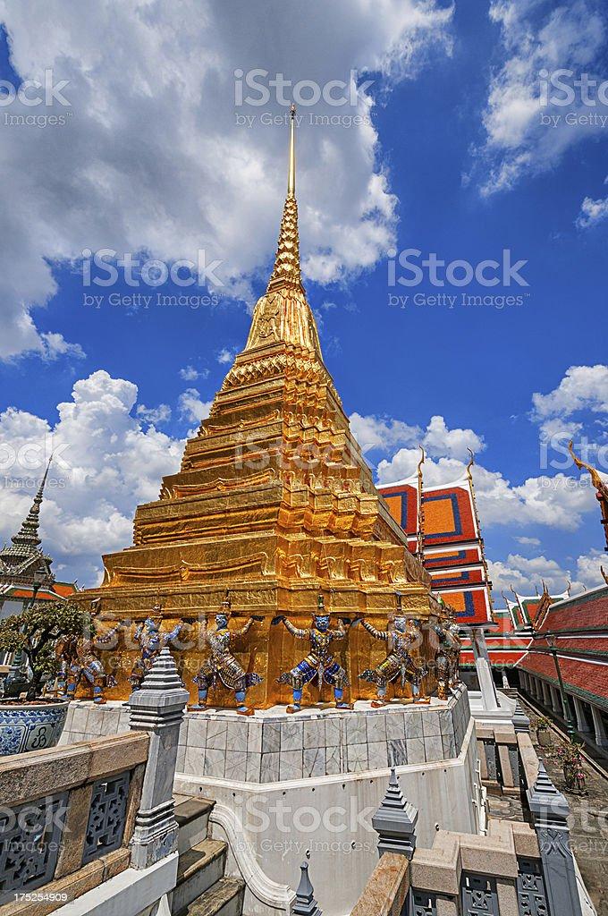 Golden Pagoda at Wat Phra Kaew, Bangkok, Thailand royalty-free stock photo