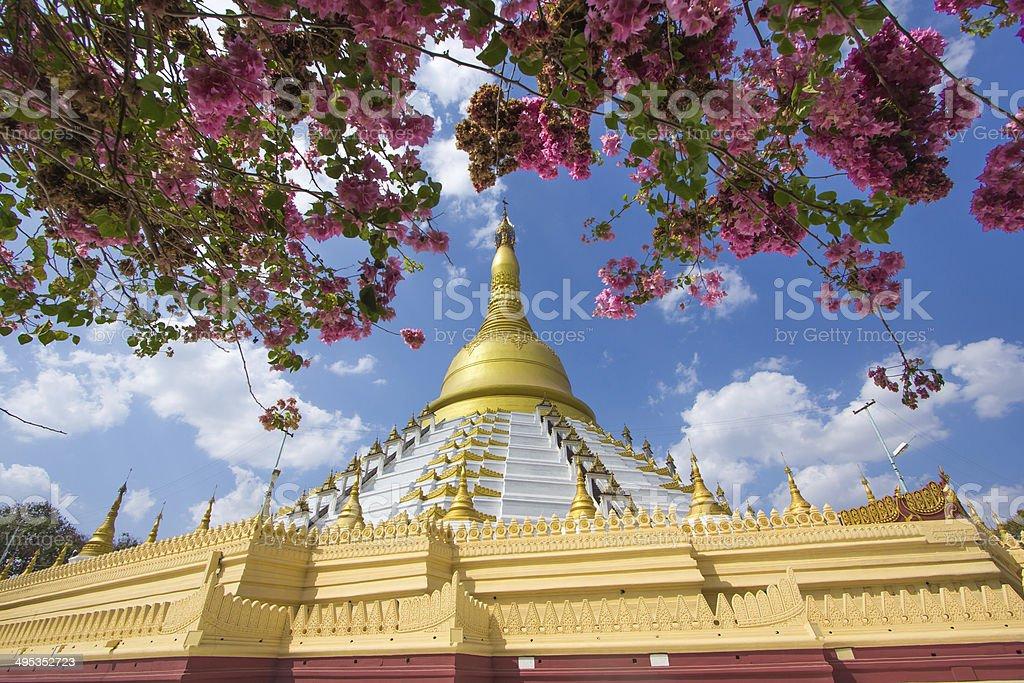 Golden pagoda Bago Myanmar. stock photo