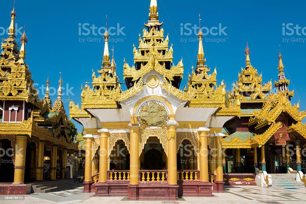 Golden Pagoda King Tharyarwady Bell Shwedagon Paya Yangon, Burma Myanmar stock photo