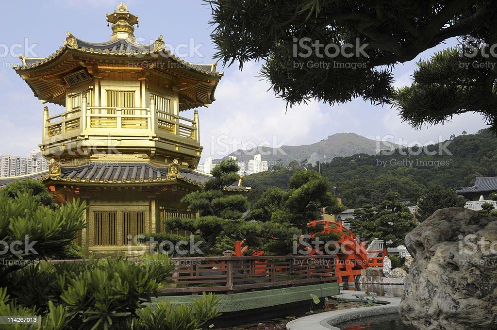 Golden Pagoda, Kowloon City, Hong Kong royalty-free stock photo