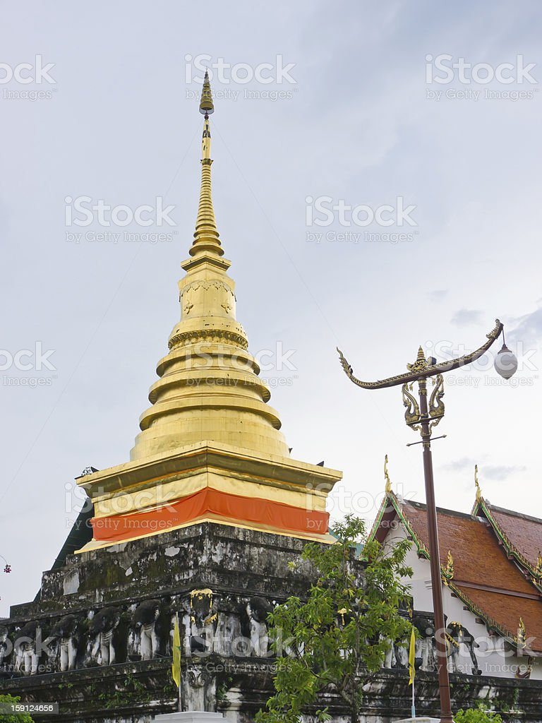 Golden pagoda royalty-free stock photo