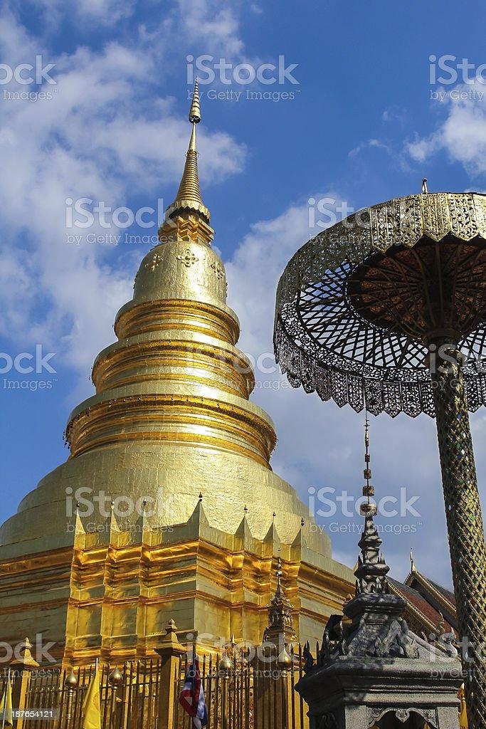Golden Pagoda. stock photo