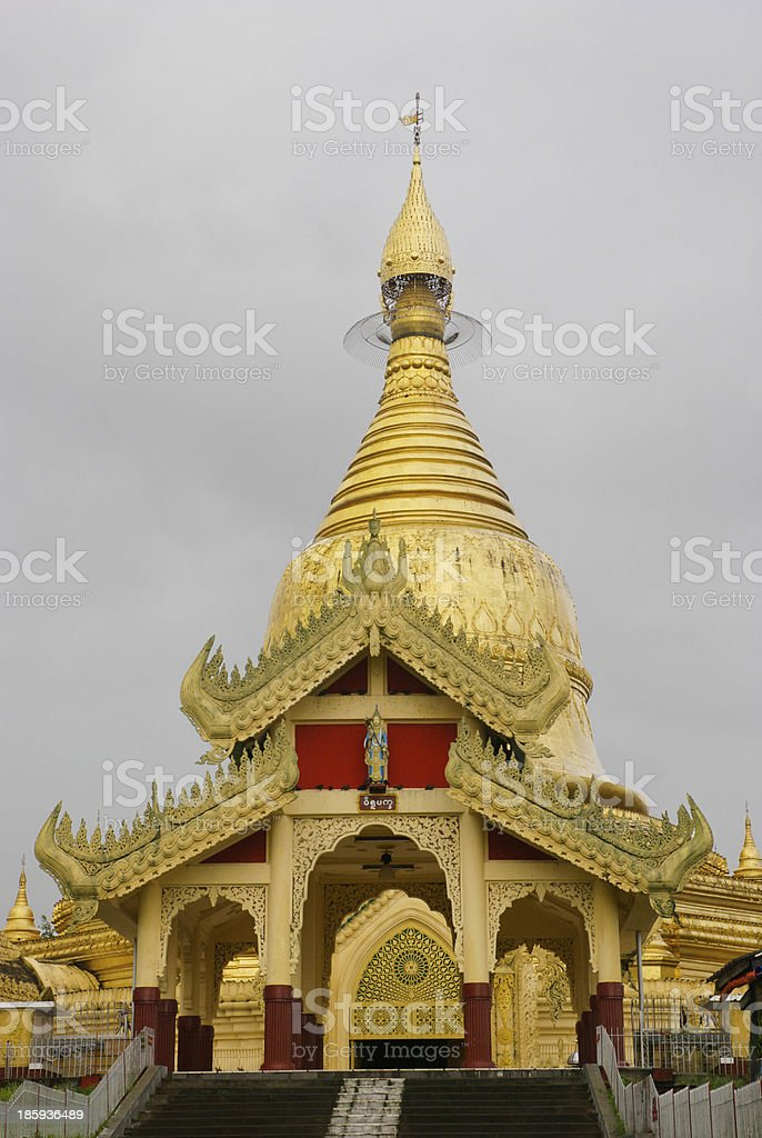 Golden Pagoda, Yangon royalty-free stock photo