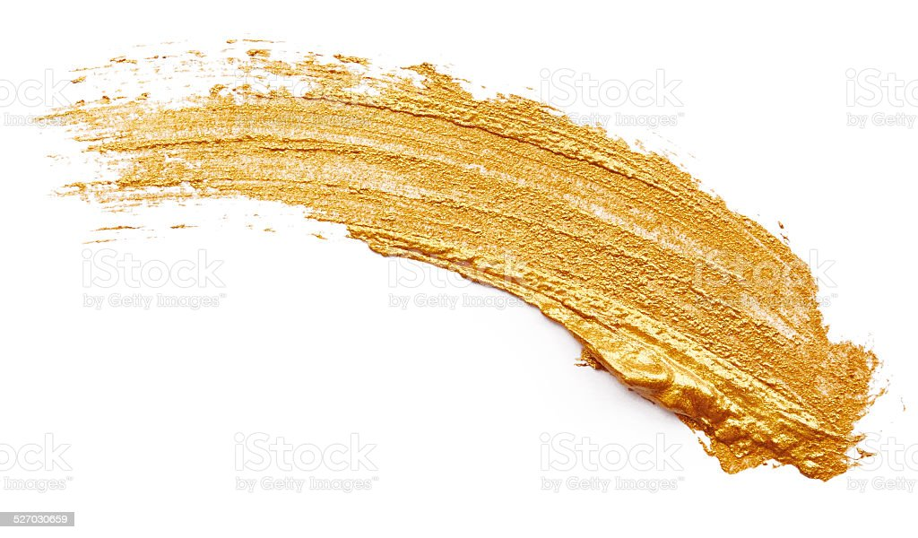 Golden paint stock photo