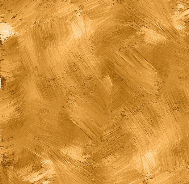 golden painted texture stock photo