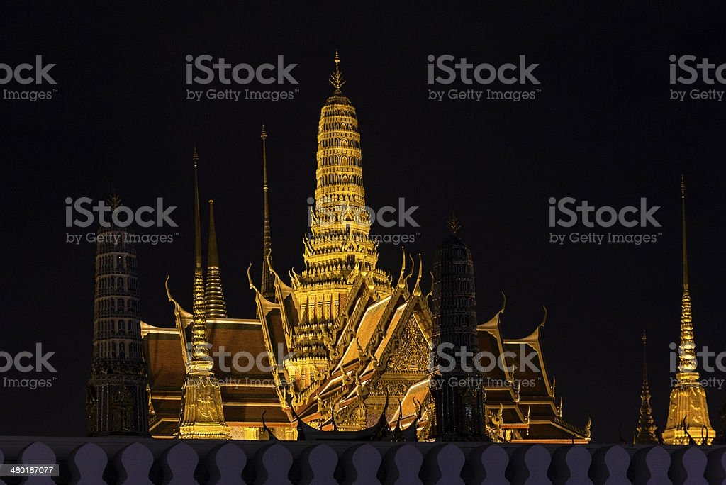 Golden Palace stock photo