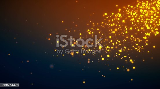 istock Golden particle background 838754478