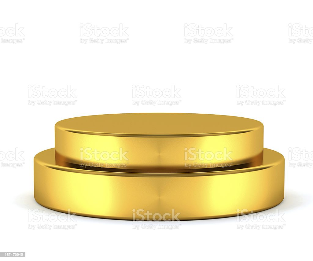 Golden pedestal - winner stock photo