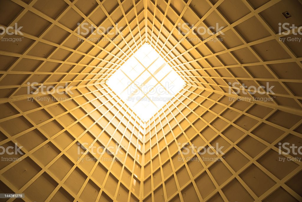 Golden perspective stock photo