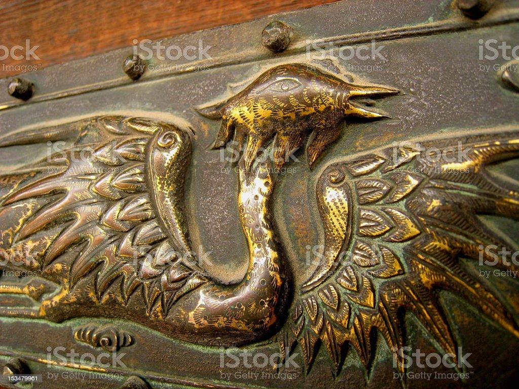 Golden Phoenix royalty-free stock photo