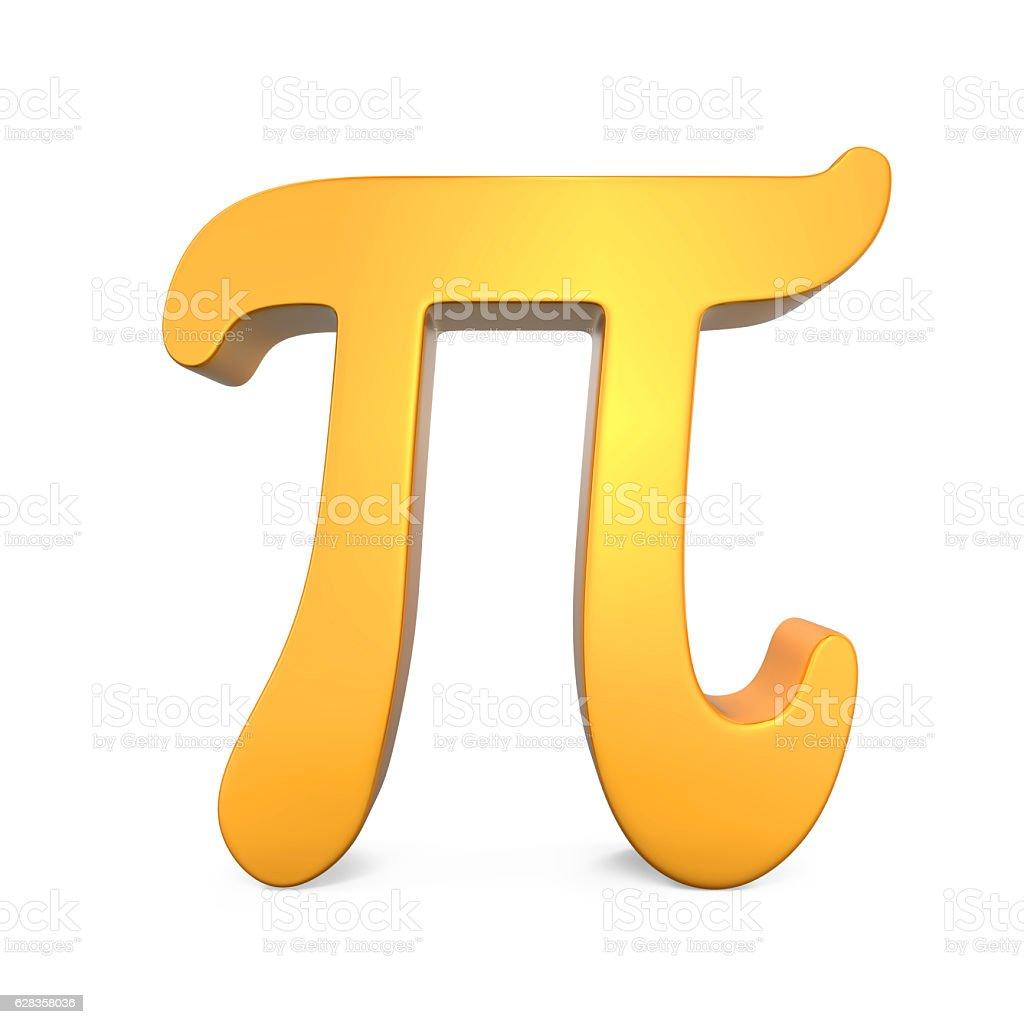 Golden Pi Symbol stock photo