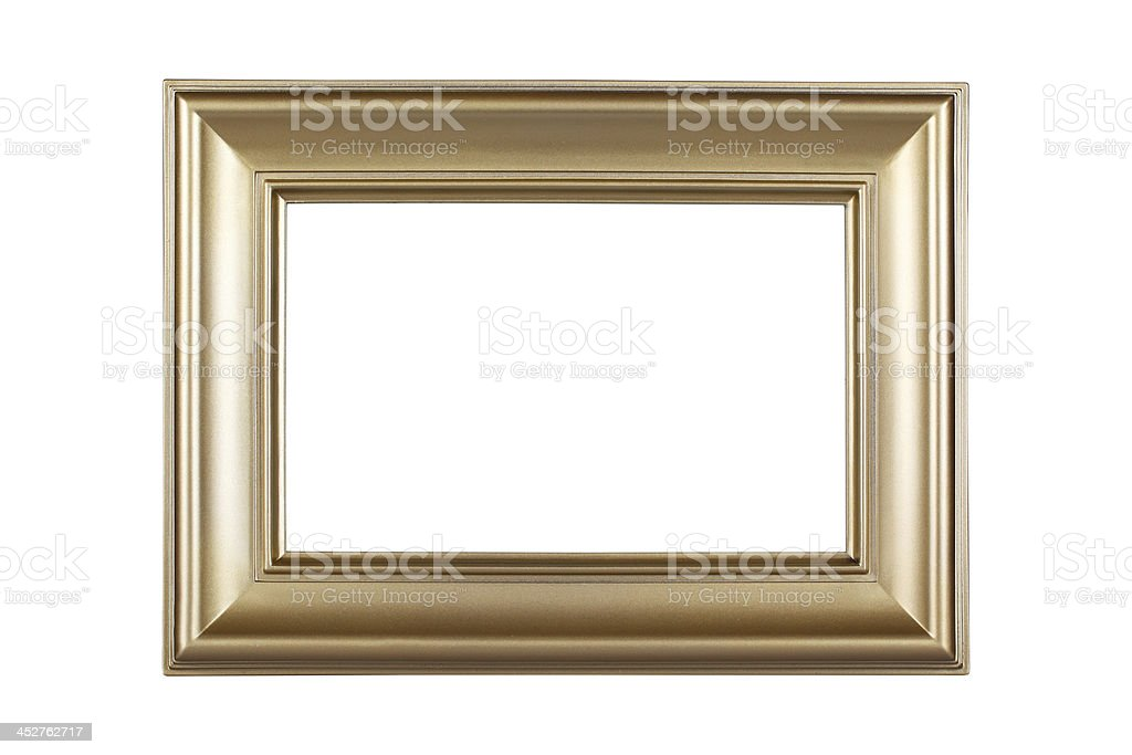 Golden picture frame royalty-free stock photo