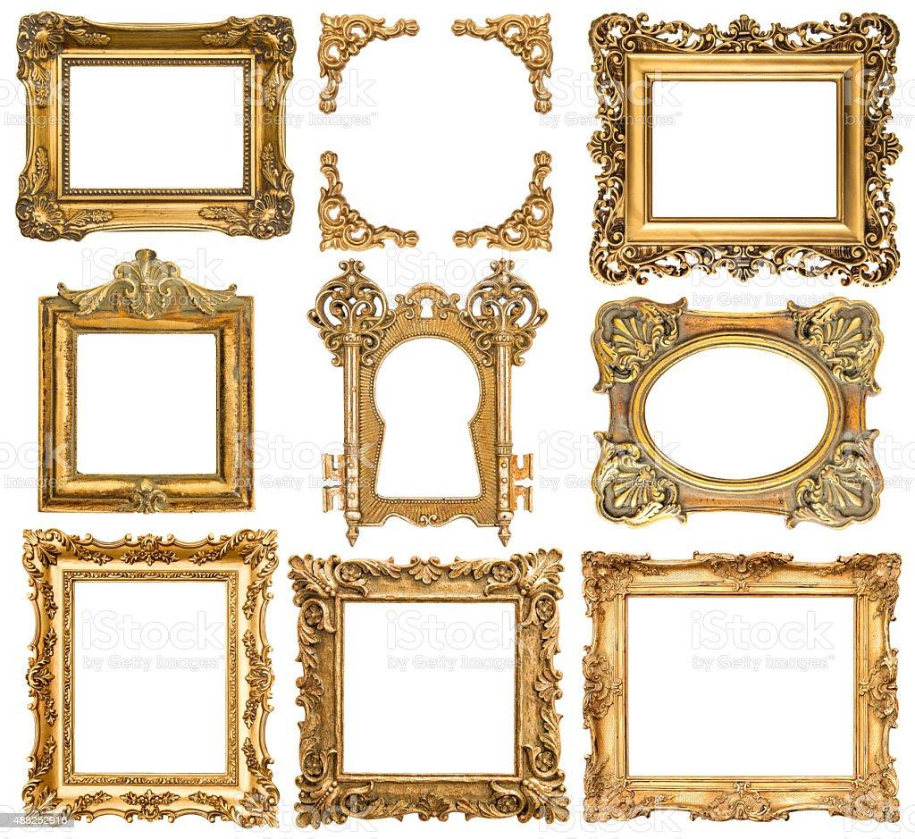 Marcos De Oro Estilo Barroco Objetos Antiguos - Fotografía de stock ...