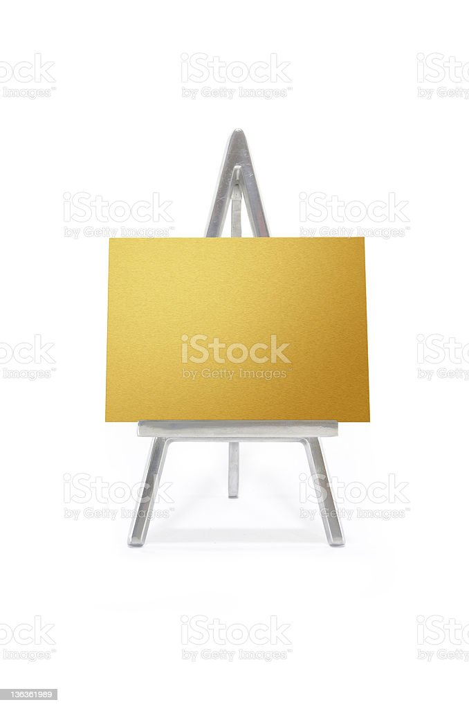 Golden plate royalty-free stock photo