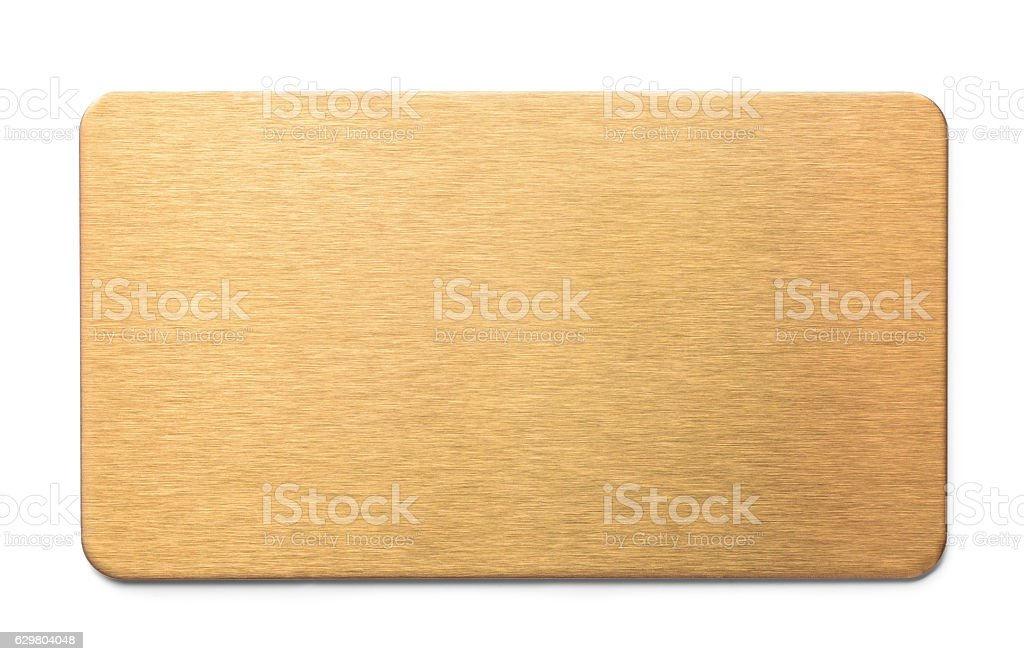 Golden plate stock photo