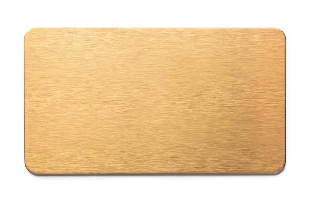 Plaque dorée - Photo