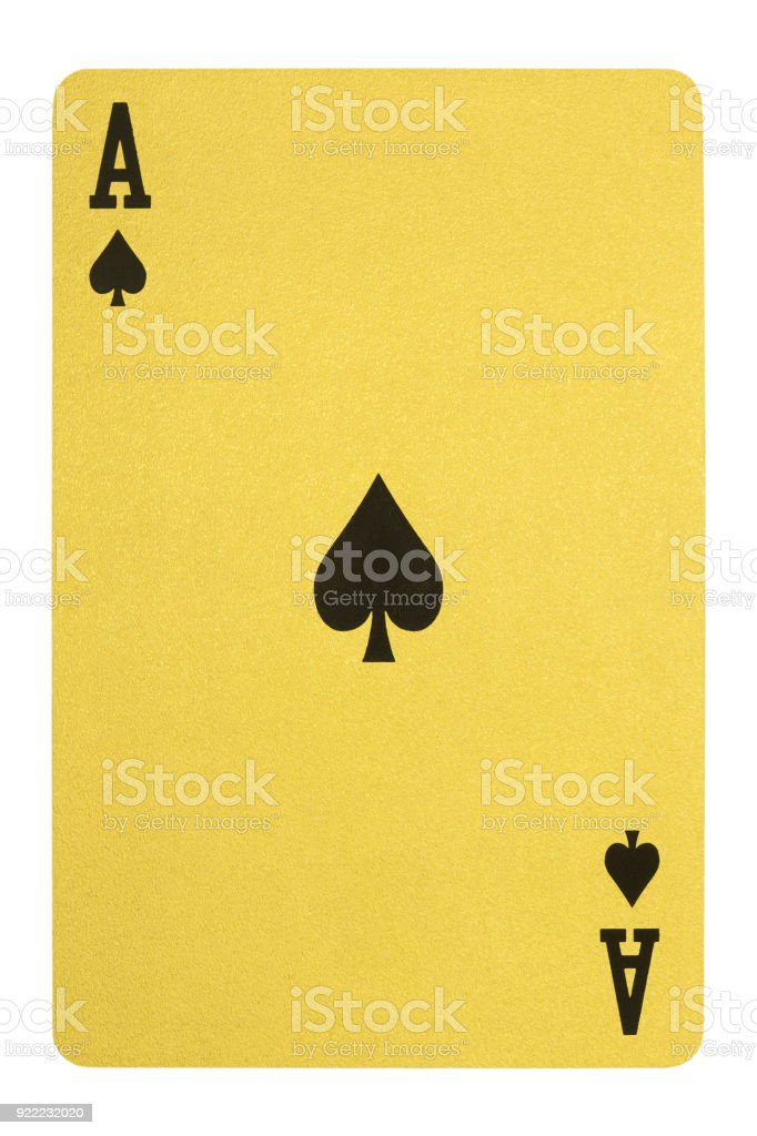 Golden playing cards, Ace of spades – zdjęcie