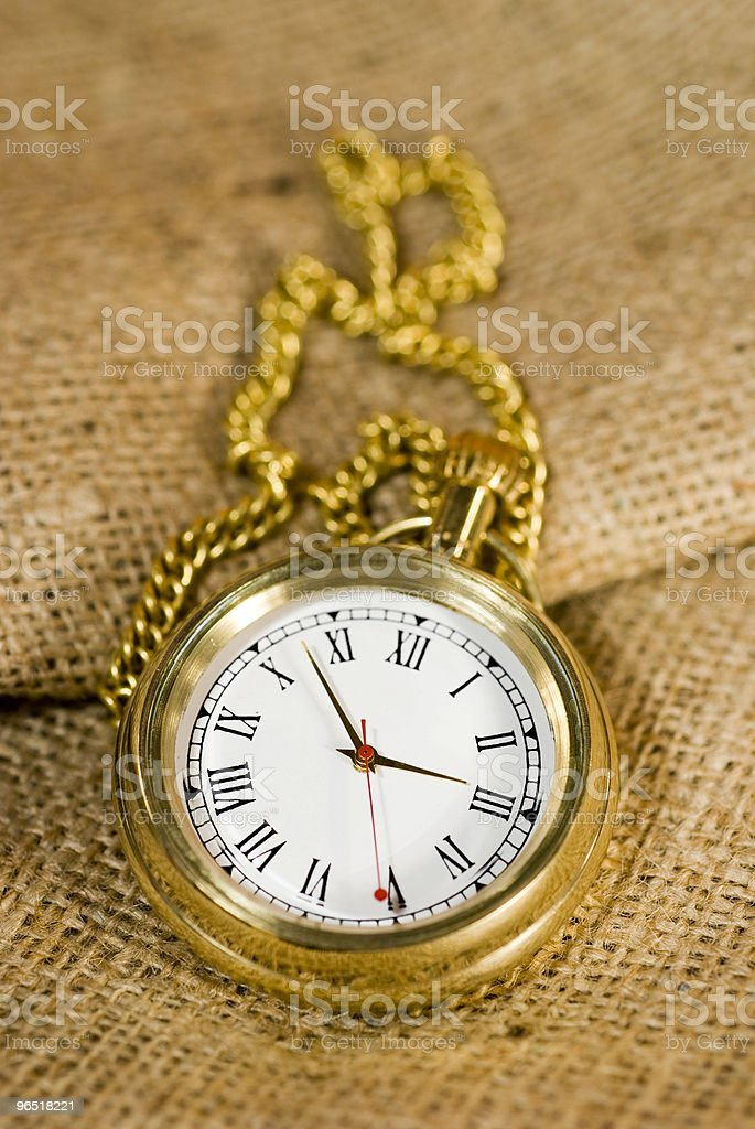 golden pocket watch royalty-free stock photo
