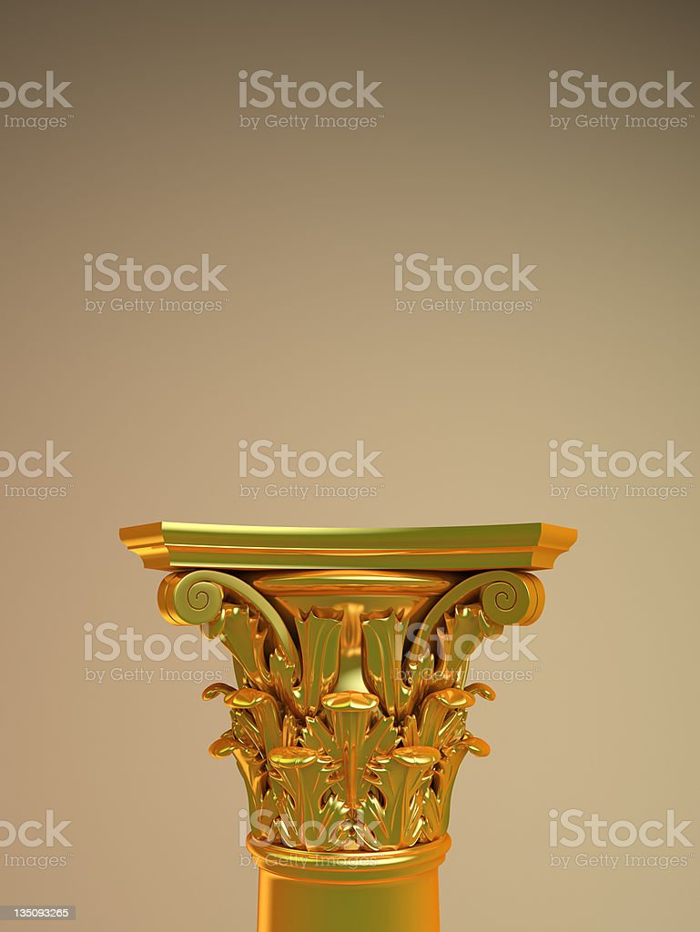 golden podium for exhibit royalty-free stock photo